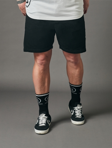 Relaxed Panel Shorts Black